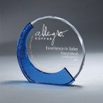 Clear Glass with Textured Blue Glass Achievement Awards