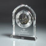 Optic Crystal Desk Clock Achievement Awards