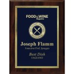 Simplicity Plate on Walnut Finish Board Achievement Awards
