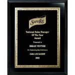 Florentine Gold Edge Plate on Ebony Board Achievement Awards