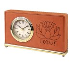 Leatherette Rectangle Clock -Rawhide Boss Gift Awards
