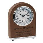 Leatherette Dome Clock -Dark Brown Boss Gift Awards