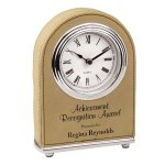 Leatherette Dome Clock -Light Brown Boss Gift Awards