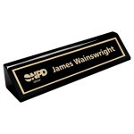 Piano Finish Ebony Name Bar Boss Gift Awards