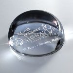 Glass Domed Paperweight Clear Glass Awards