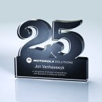 Anniversary Freestanding Colored Acrylic Awards