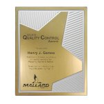 Grooved Brilliance Plaque Colored Acrylic Awards