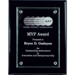Ebony Piano Finish Board with Raised Glass Employee Awards