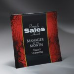 Craquelure Glass Lasered Tray with Easel Stand and Wall Mount Employee Awards
