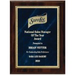 Blue Marble Florentine Plate on Walnut Finish Board Employee Awards