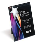 Streaming Star Lucite Plaque with Hanger/Easel Employee Awards