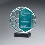 Reflective Excellence Circle with Silver Mirror Sales Awards