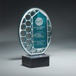 Reflective Excellence Oval with Silver Mirror Sales Awards