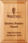 Genuine Alder Wood Plaque Sales Awards