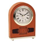 Leatherette Dome Clock -Rawhide Secretary Gift Awards