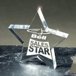 Lasered Lucite Star Award Traditional Acrylic Awards