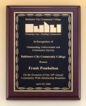 Rosewood Piano Finish Plaque with Brass Plate Wood Awards
