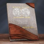 Wave Moonstone Plaque Wood Awards